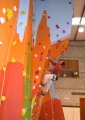 roped climbing walls - Shannon LC lead climbing